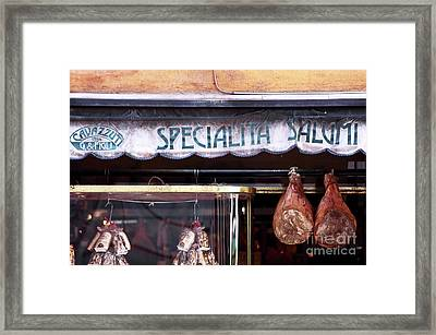 Specialita Salumi Framed Print by John Rizzuto