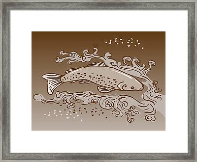 Speckled Trout Fish Framed Print by Aloysius Patrimonio