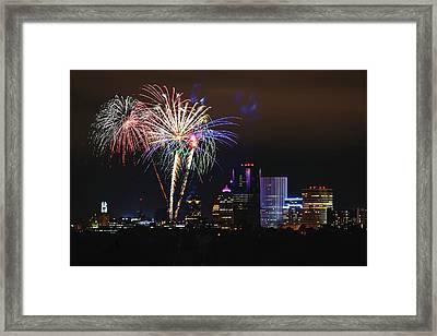 Spectacular Celebration Framed Print