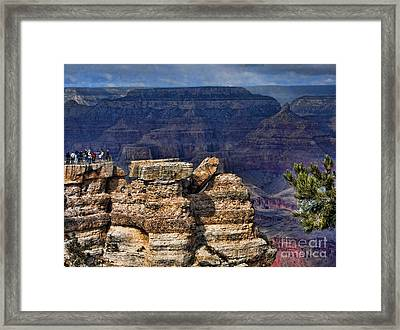 Framed Print featuring the photograph Spectacular Grand Canyon by Roberta Byram