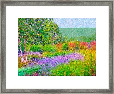 Framed Print featuring the digital art Spectacular May At The Stonewall Resort by Digital Photographic Arts