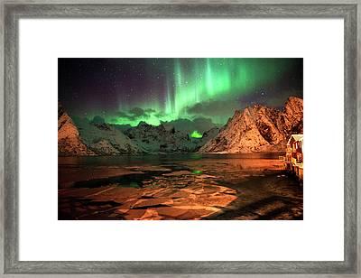 Spectacular Night In Lofoten 1 Framed Print