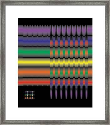 Spectral Integration Framed Print