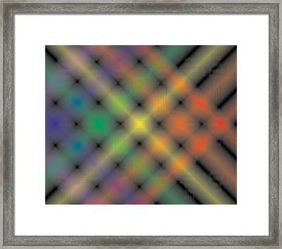 Spectral Shimmer Weave Framed Print