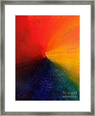 Spectral Spiral  Framed Print