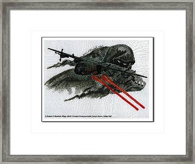 ''spectre... Bringing The Rain'', Desert Storm, 20mar1991 Framed Print by Robert C Marshall