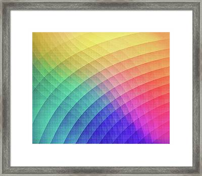 Spectrum Bomb Fruity Fresh Hdr Rainbow Colorful Experimental Pattern Framed Print