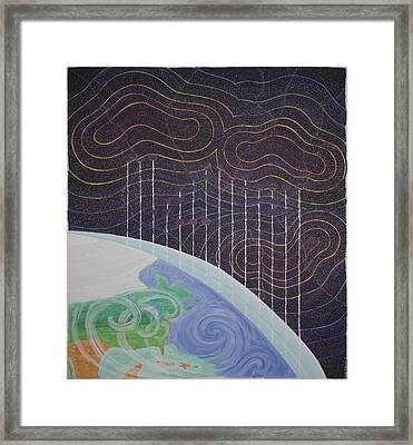 Spectrum Earth Spacescape Framed Print