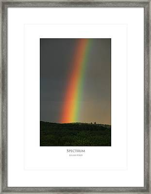 Framed Print featuring the digital art Spectrum by Julian Perry