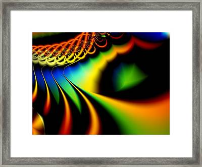 Spectrum Path Framed Print by Lauren Goia
