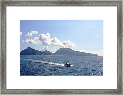 Speed At Sea Capri Framed Print by Piety Dsilva