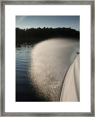 Speed Boat Framed Print by Gary Eason