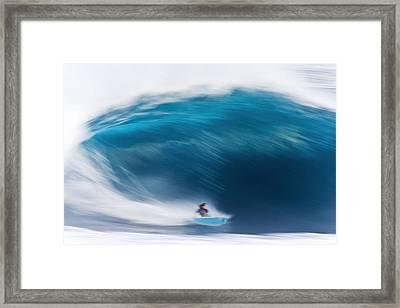 Speed Bowl Framed Print by Sean Davey