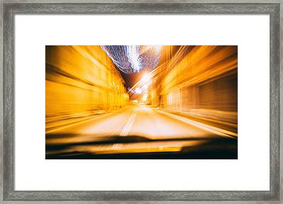 Speed Framed Print by Cesare Bargiggia