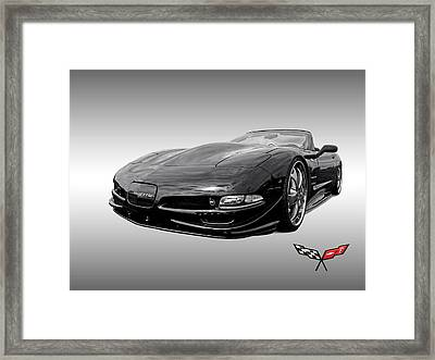 Speed - Corvette C5 Framed Print by Gill Billington