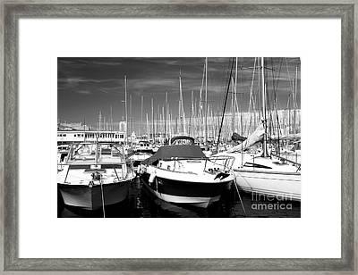Speed In The Port Framed Print