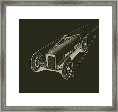 Speed Framed Print by Jeremy Lacy