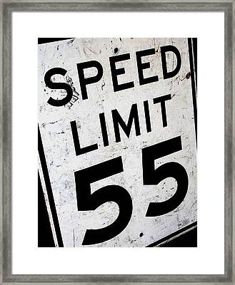 Speed Limit Framed Print by Audrey Venute