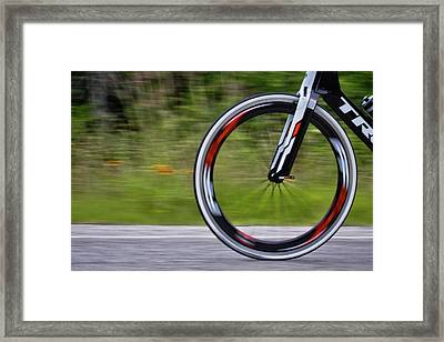 Framed Print featuring the photograph Speed Of Life by Linda Unger