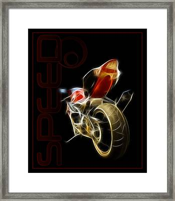 Speed Framed Print by Ricky Barnard
