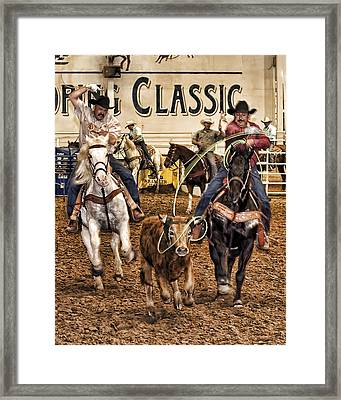 Speed Roping Framed Print
