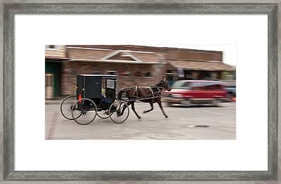 Speeding 3271 Framed Print by Guy Whiteley
