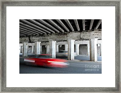 Speeding Car Framed Print