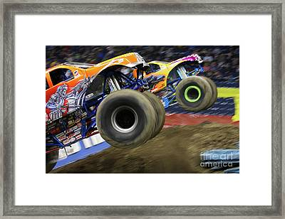 Speeding Tires Framed Print by Karol Livote