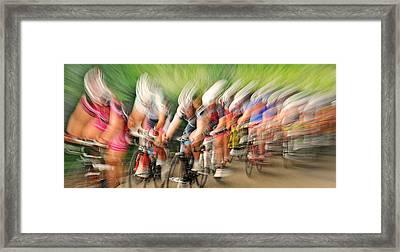Speedwaves Framed Print by Lou Urlings