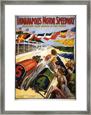 Speedway Framed Print