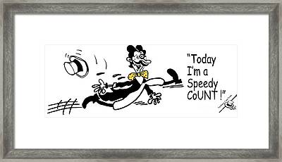 Speedy Count Framed Print by Mugs Afloat