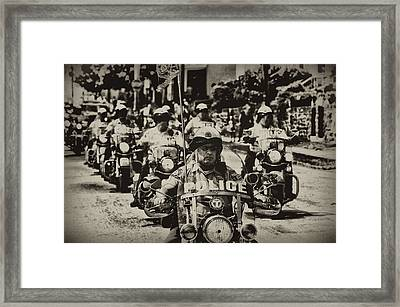 Speedy Motorcycle Framed Print by Bill Cannon
