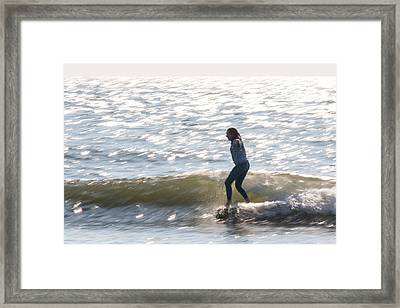 Speedy Noseride Framed Print by AM Photography