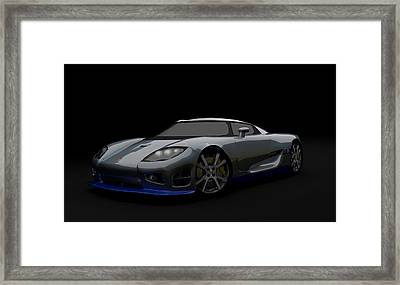 Speedy Swede Framed Print by Brainwave Pictures