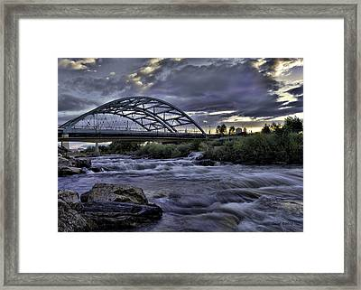 Speer Blvd Bridge Framed Print