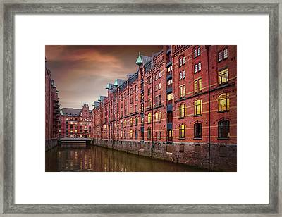 Speicherstadt Hamburg Germany  Framed Print