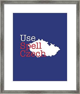 Spell Check Framed Print by Nancy Ingersoll