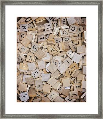 Spell It Out Framed Print