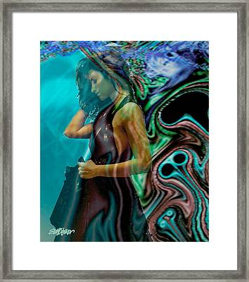 Framed Print featuring the digital art Spell Of A Woman by Seth Weaver