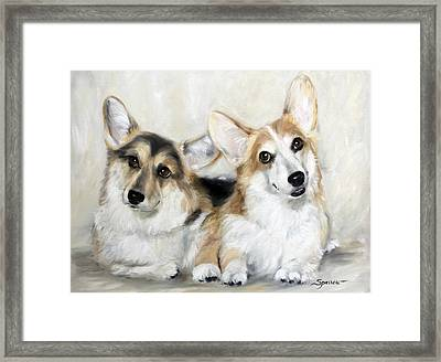 Spencer And Angus Framed Print