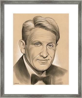 Spencer Tracy 05dec Framed Print