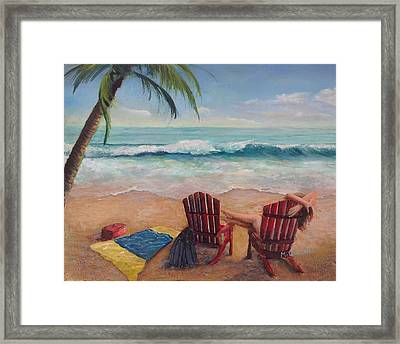 Spent - Contentment Framed Print by Marcel Quesnel