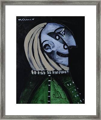 Speramus Man In Green Shirt Thinking About Time  Framed Print