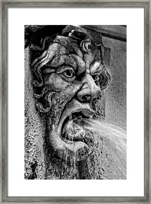 Spewing - Bw Framed Print by Christopher Holmes