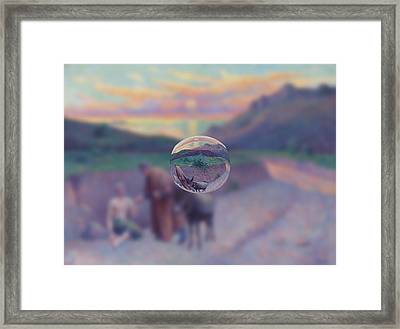 Sphere 10 Luce Framed Print by David Bridburg