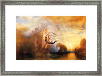 Sphere 11 Turner Framed Print by David Bridburg