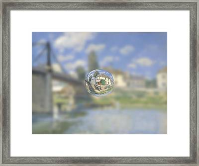 Sphere 18 Sisley Framed Print by David Bridburg