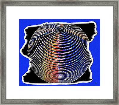 Sphere In Blue Framed Print by Will Borden