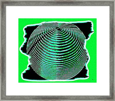 Sphere In Green Framed Print by Will Borden