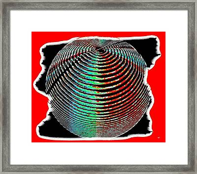 Sphere In Red Framed Print by Will Borden